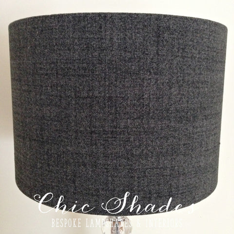 Grey Faux Wool Country Lampshade