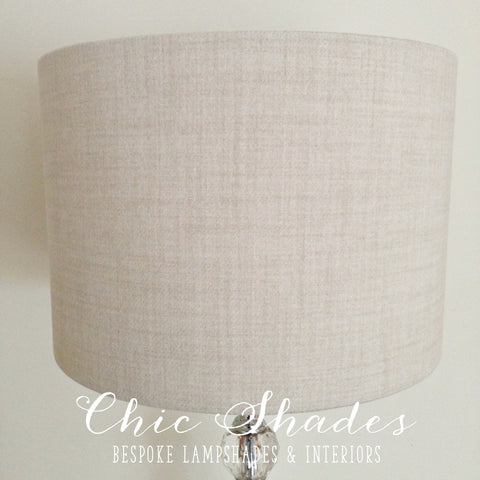 White Faux Wool Country Lampshade