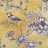 Finch Toile Bird Yellow and Grey Lampshade