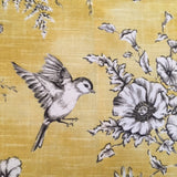 Yellow and Grey Bird Finch Toile Lampshade
