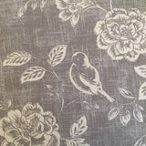 Grey Bird and Flowers Lampshade