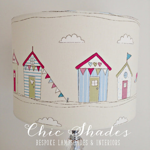 Beach Hut Pink Lampshade