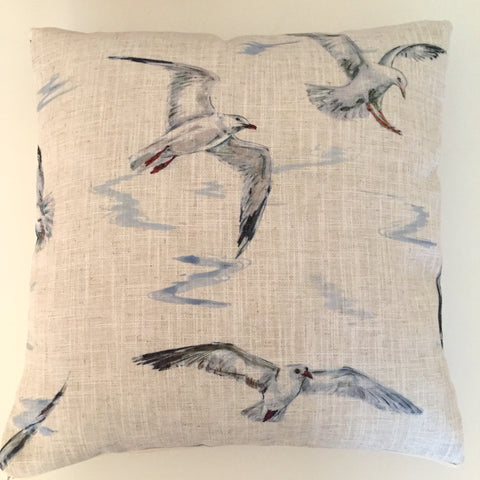 Linen Seagull Cushion