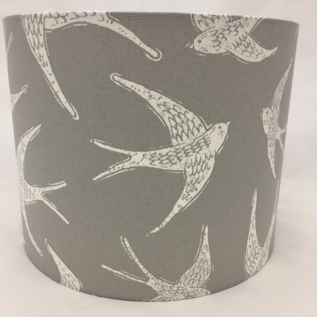 Fly Away Bird Lampshade Grey