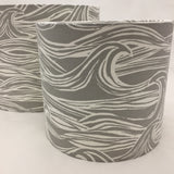 Surf Waves Lampshade Grey