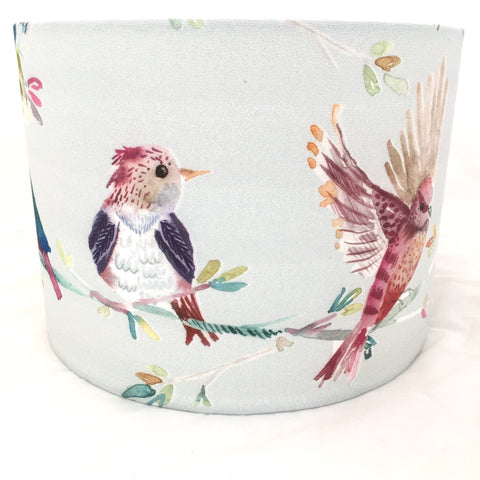 Summer Melody Bird Pale Blue Lampshade
