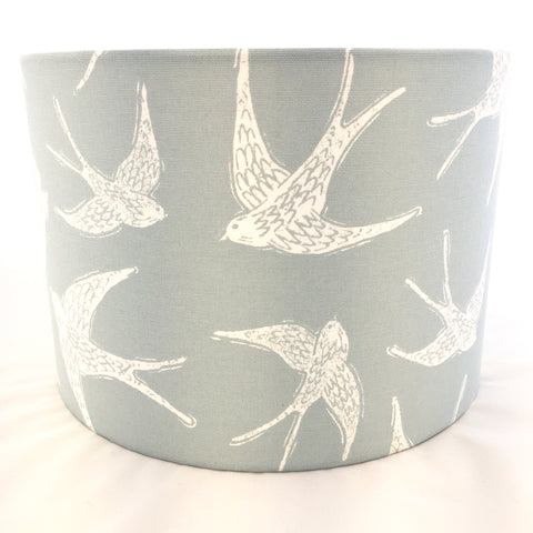 Fly Away Bird Lampshade Duck Egg Blue