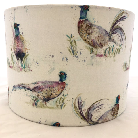 Voyage Dashing Pheasants Fabric Lampshade