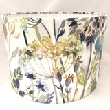 Voyage Hedgerow Sky Flowers Linen Lampshade