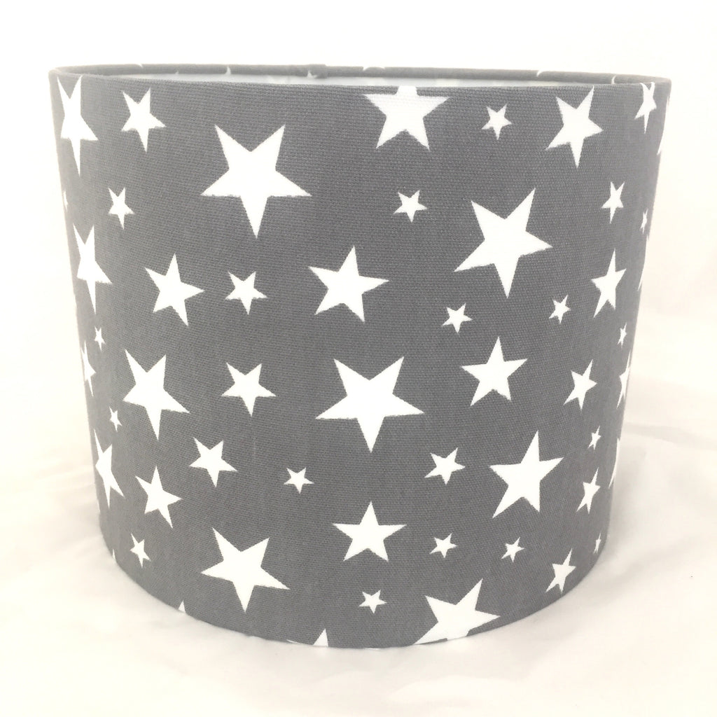Star Lampshade Charcoal Grey & White