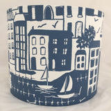 Waterside Navy Lampshade