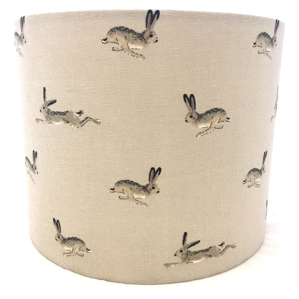 Sophie Allport Hares Neutral stone Lampshade
