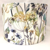Voyage Hedgerow Sky Flowers Cream Lampshade