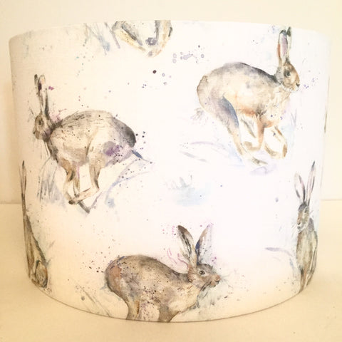 Voyage Hurtling Hares Fabric Lampshade
