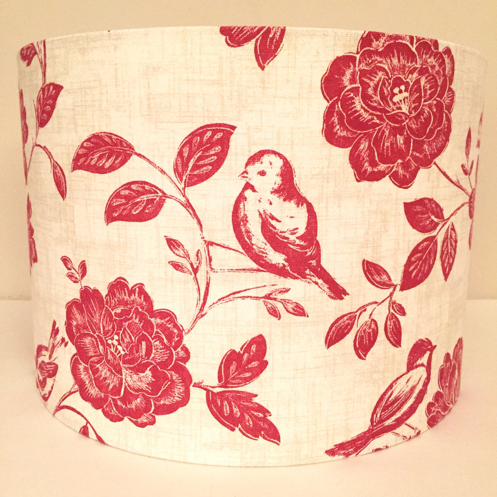 Red Bird and Flowers Lampshade