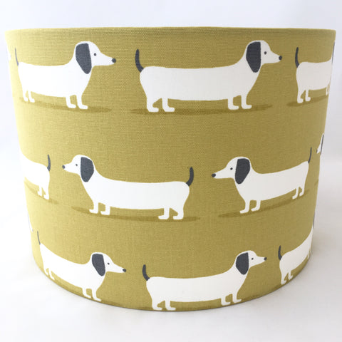 Hound Dog Ochre Lampshade