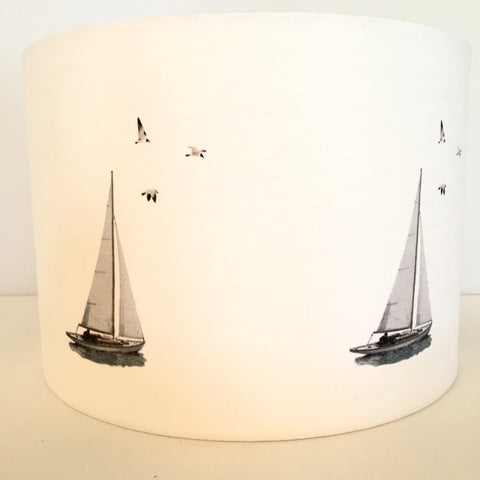 White Sail Boats Lampshade