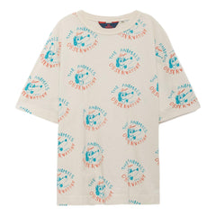 THE ANIMALS OBSERVATORY - Raw White Dogs Rooster Oversized Kids Tee