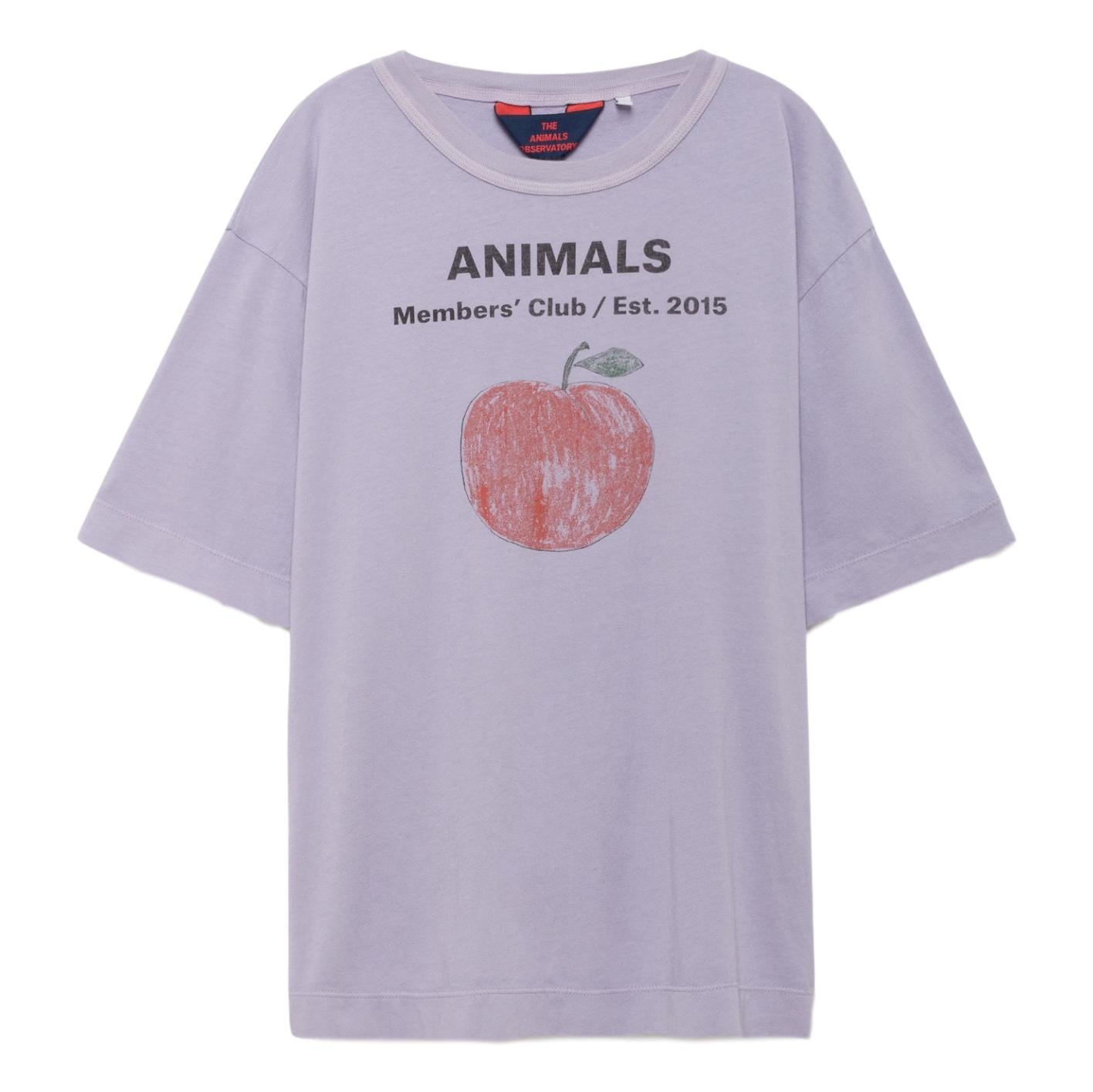 THE ANIMALS OBSERVATORY - Lavand Peach Rooster Oversized Kids Tee