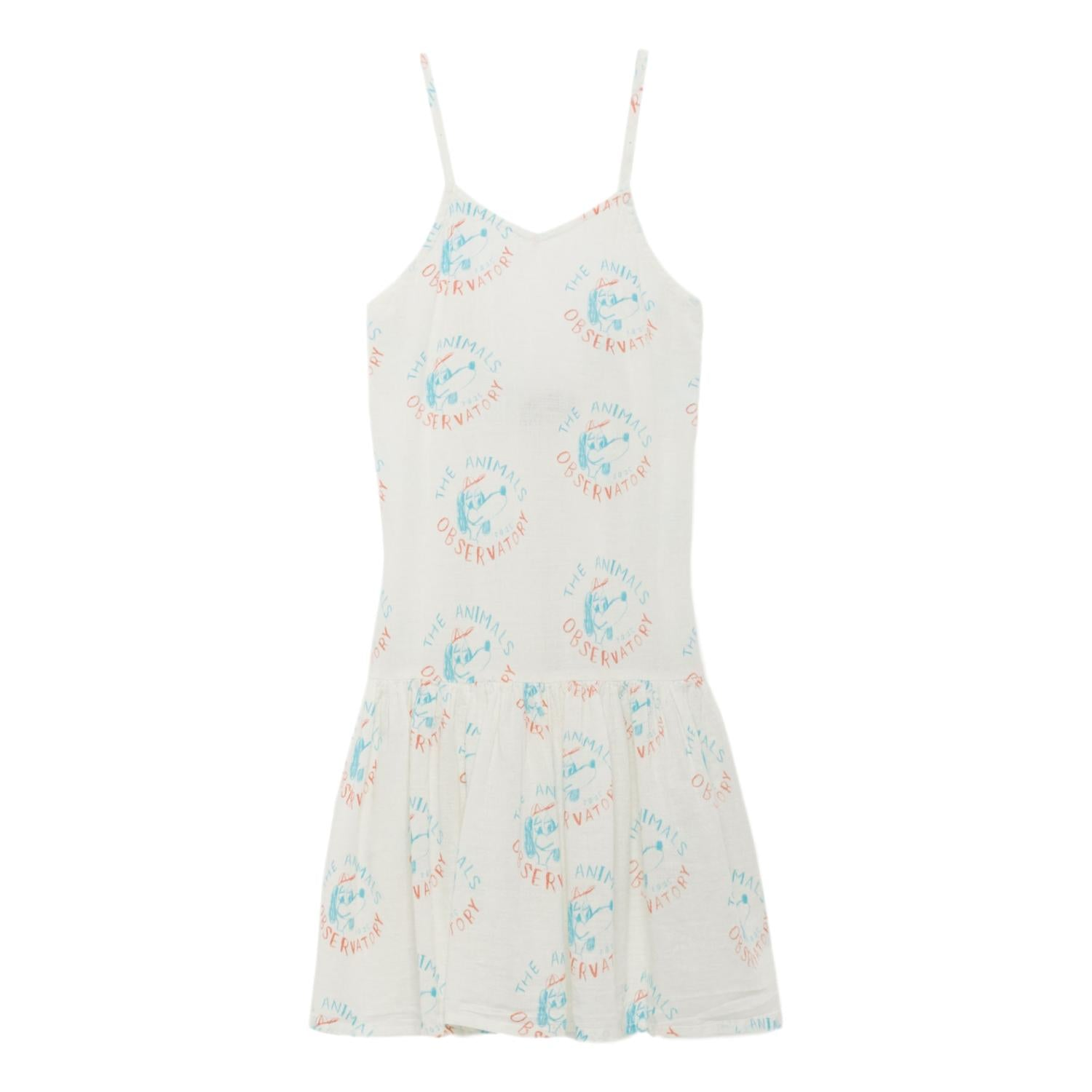 THE ANIMALS OBSERVATORY - Raw White Dogs Mouse Kids Dress