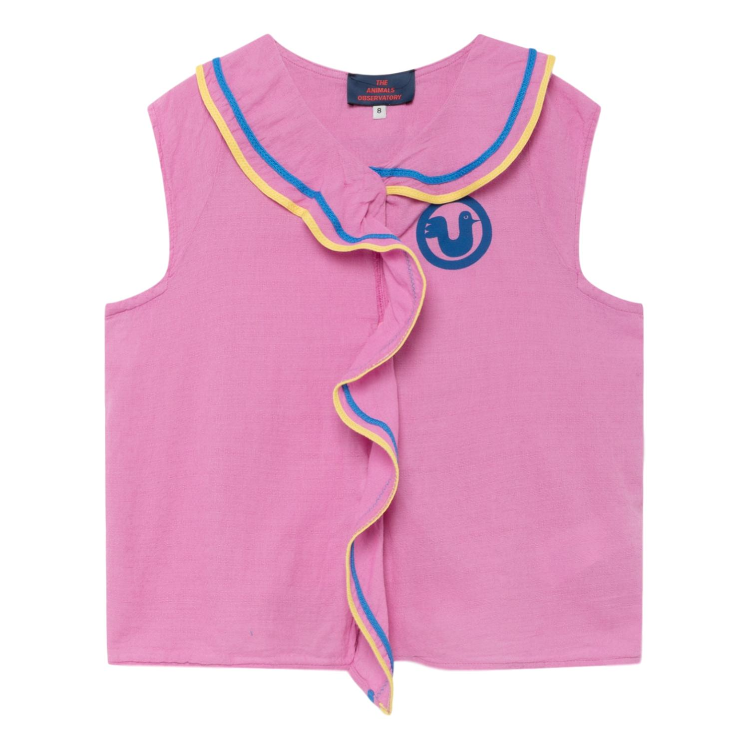 THE ANIMALS OBSERVATORY - Fuchsia Bird Kangaroo Kids Blouse