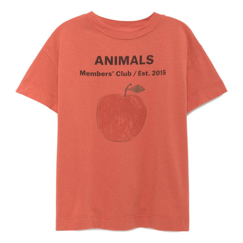 THE ANIMALS OBSERVATORY - Red Peach Rooster Kids Tee