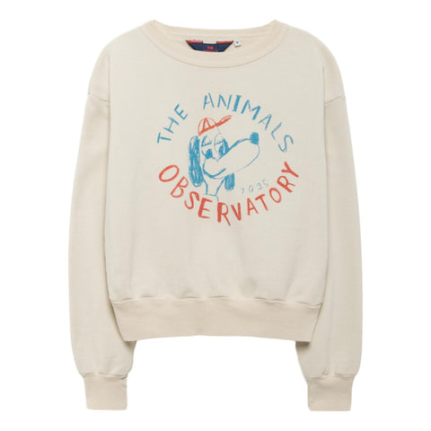 THE ANIMALS OBSERVATORY - Raw White Dog Bear Kids Sweatshirt