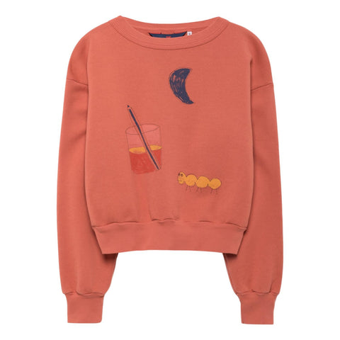 THE ANIMALS OBSERVATORY - Red Glass Bear Kids Sweatshirt