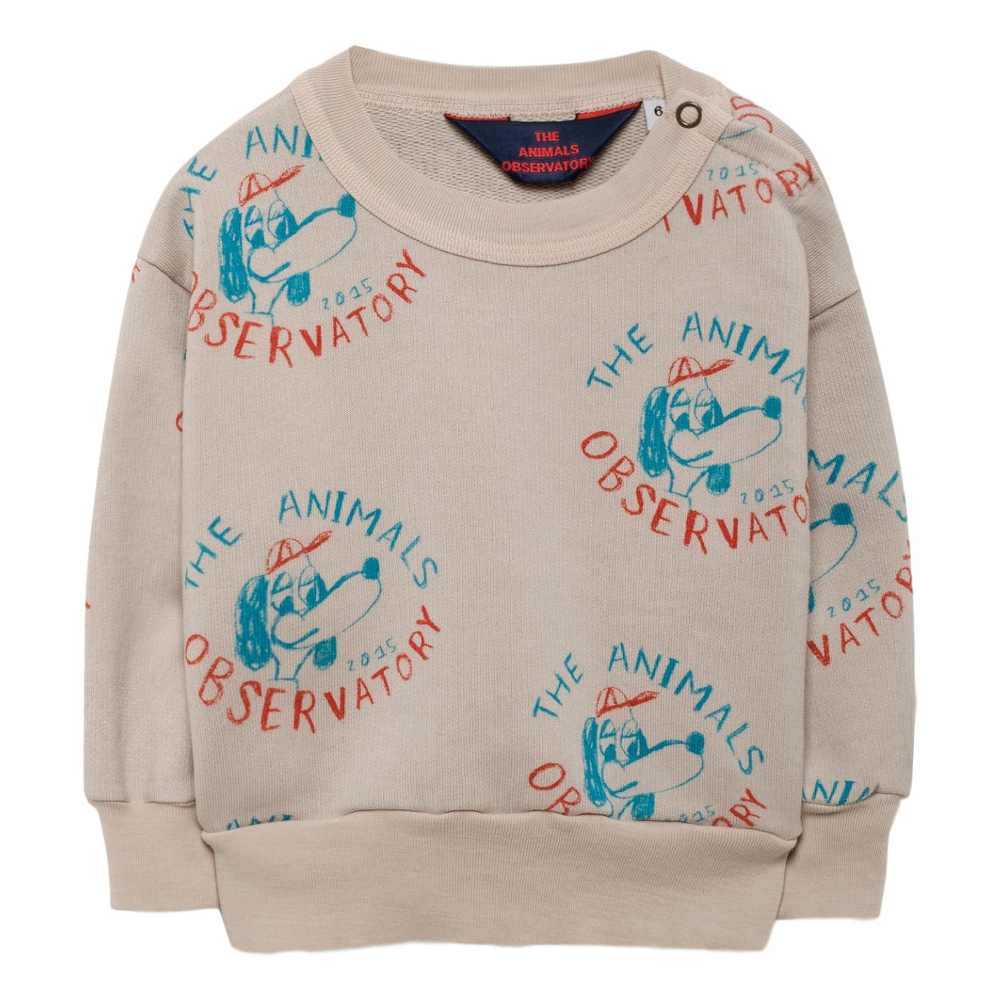 THE ANIMALS OBSERVATORY -Beige Dogs Bear Babies Sweatshirt