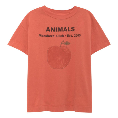 THE ANIMALS OBSERVATORY - Red Peach Rooster Babies Tee