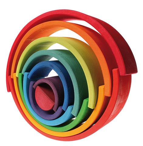 Grimm's Wooden Toys | Large Stacking Rainbow - The Mini Life, Toronto