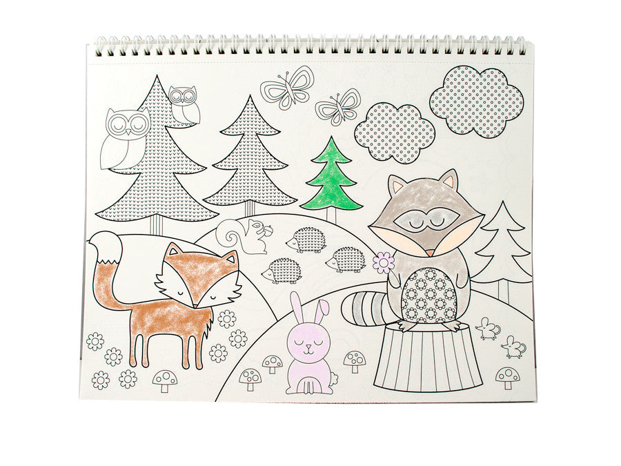 International Arrivals | Cozy Critters Color-in Book