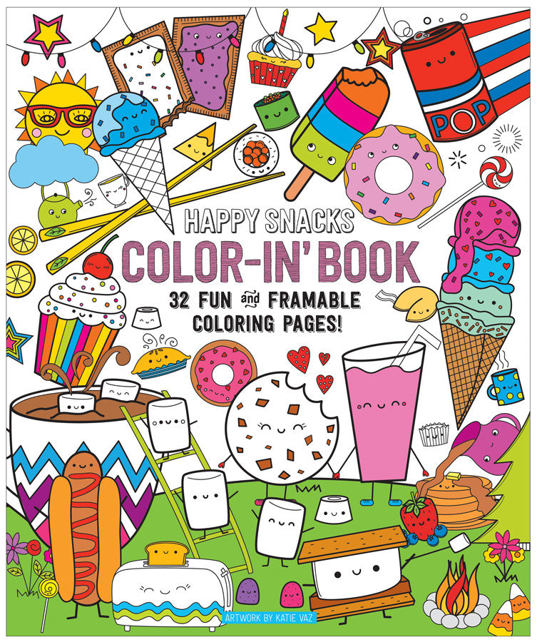 INTERNATIONAL ARRIVALS | COLOR-IN' BOOK HAPPY SNACKS | WWW.THEMINILIFE.COM