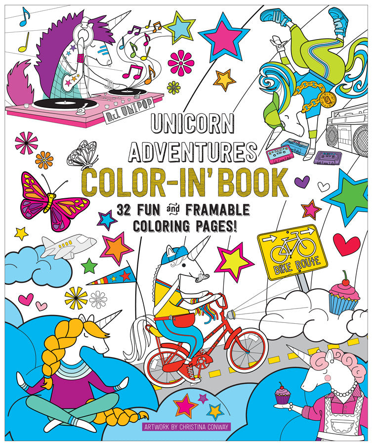 International Arrivals | Unicorn Adventures Color-in Book