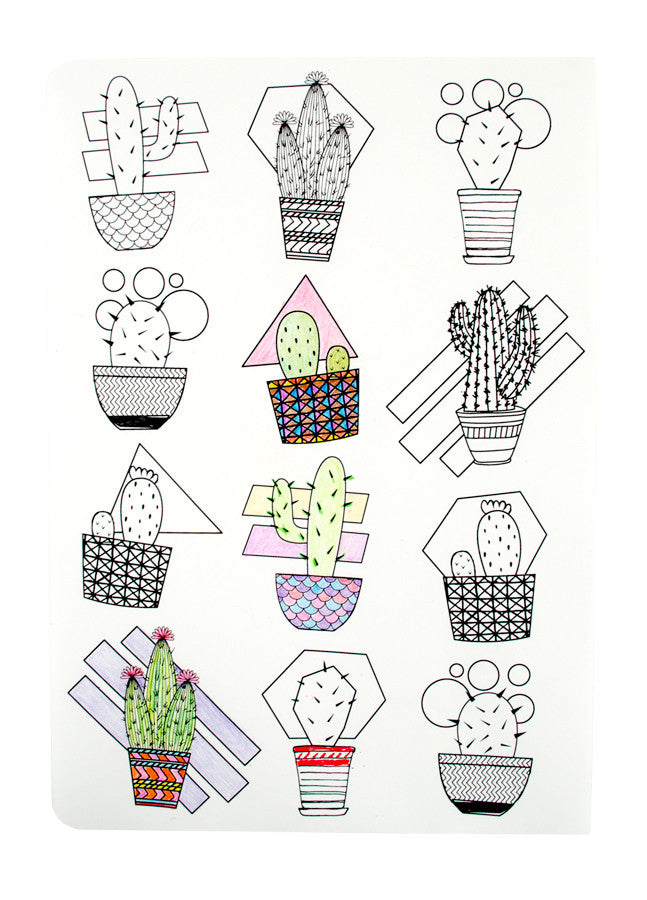International Arrivals | Cactus & Succulents Color-In' Book | www.theminilife.com