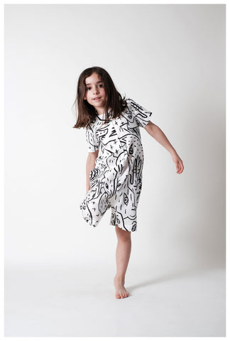 WOLF AND RITA x JC CASTELBAJAC | Simone Romper - Camo Animaux | The Mini Life