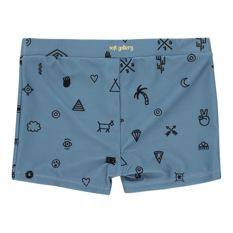 Soft Gallery | Elements Swim Trunk - Smoke Blue | The Mini Life