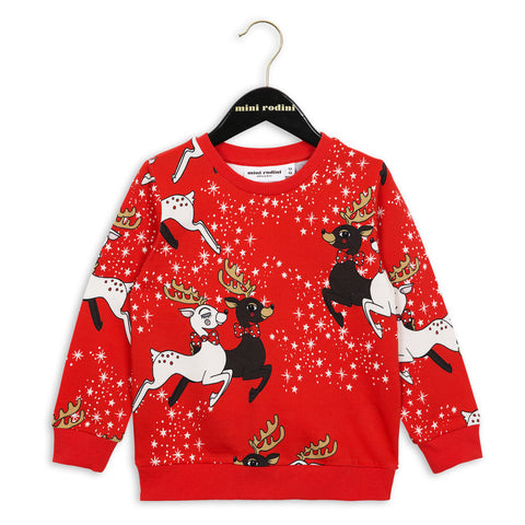 Mini Rodini | Red Reindeer Sweatshirt