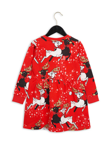Mini Rodini | Red Reindeer Dress
