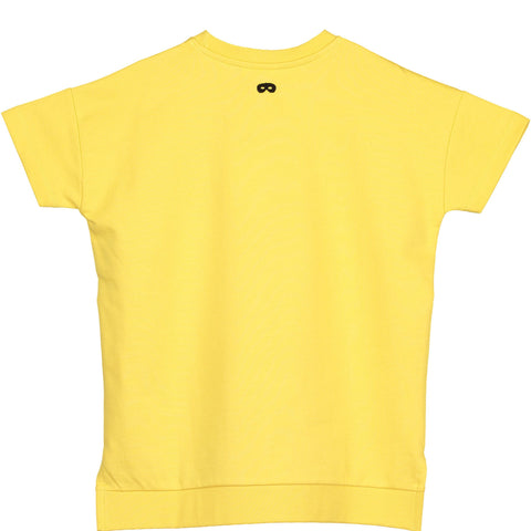 Beau Loves - Yellow Upside Down Short Sleeve Square Sweater