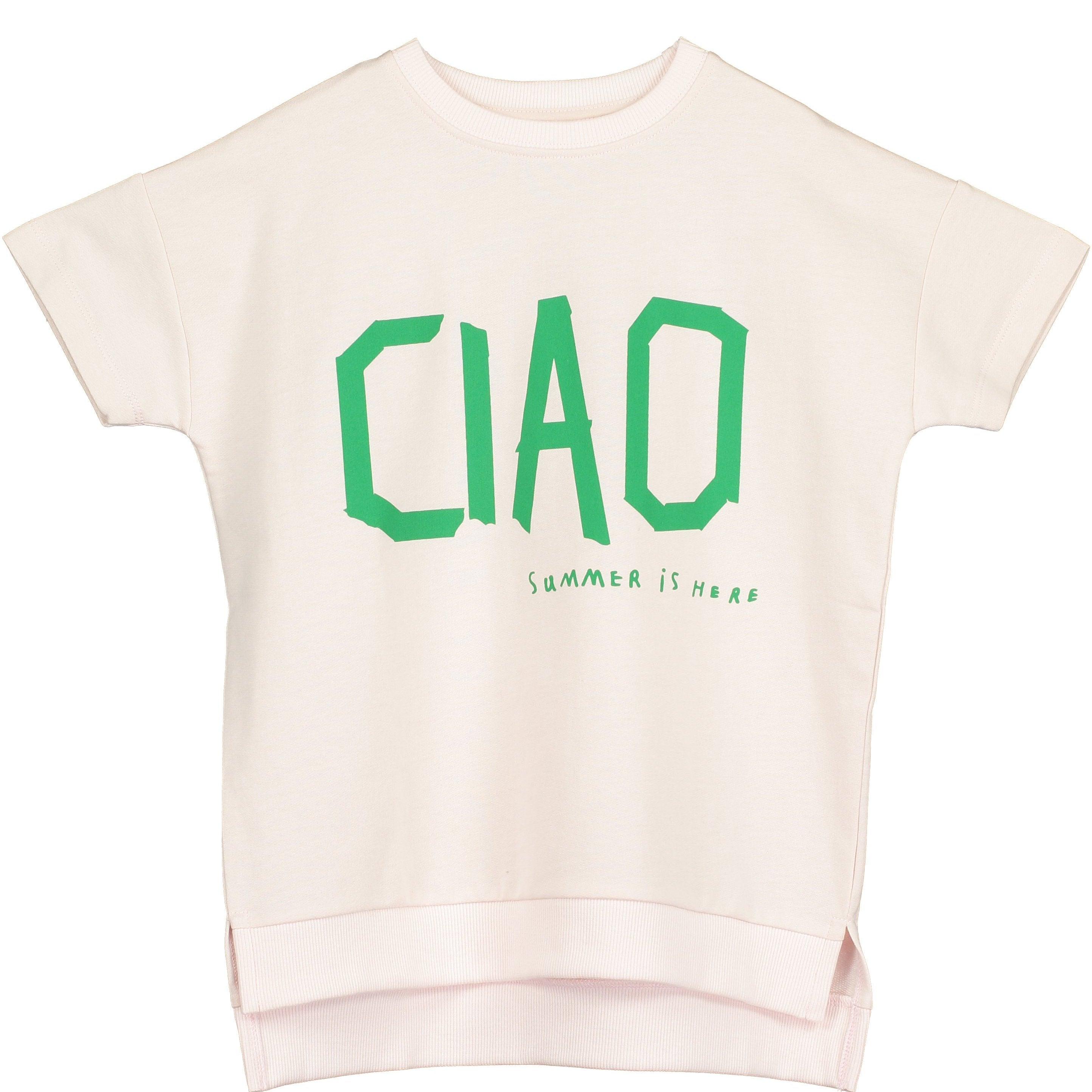 Beau Loves - Chalk Blush Ciao Short Sleeve Square Sweater