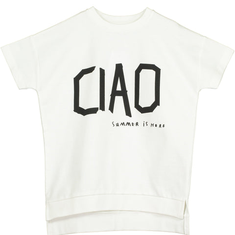 Beau Loves - Vanilla Ciao Short Sleeve Square Sweater