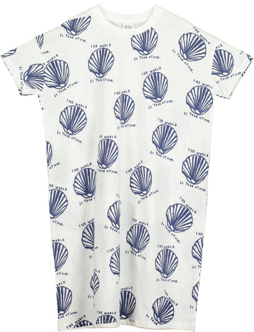 Beau Loves - Oyster T Shirt Dress