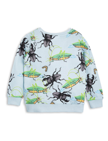 Mini Rodini SS17 | Light Blue Insects Sweatshirt | The Mini Life