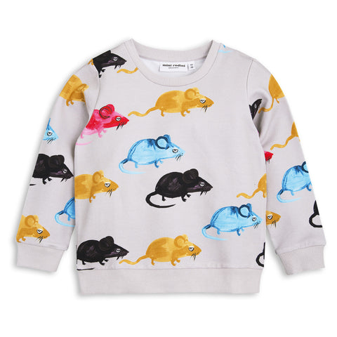 Mini Rodini | MR Mouse Sweatshirt - Grey | The Mini Life