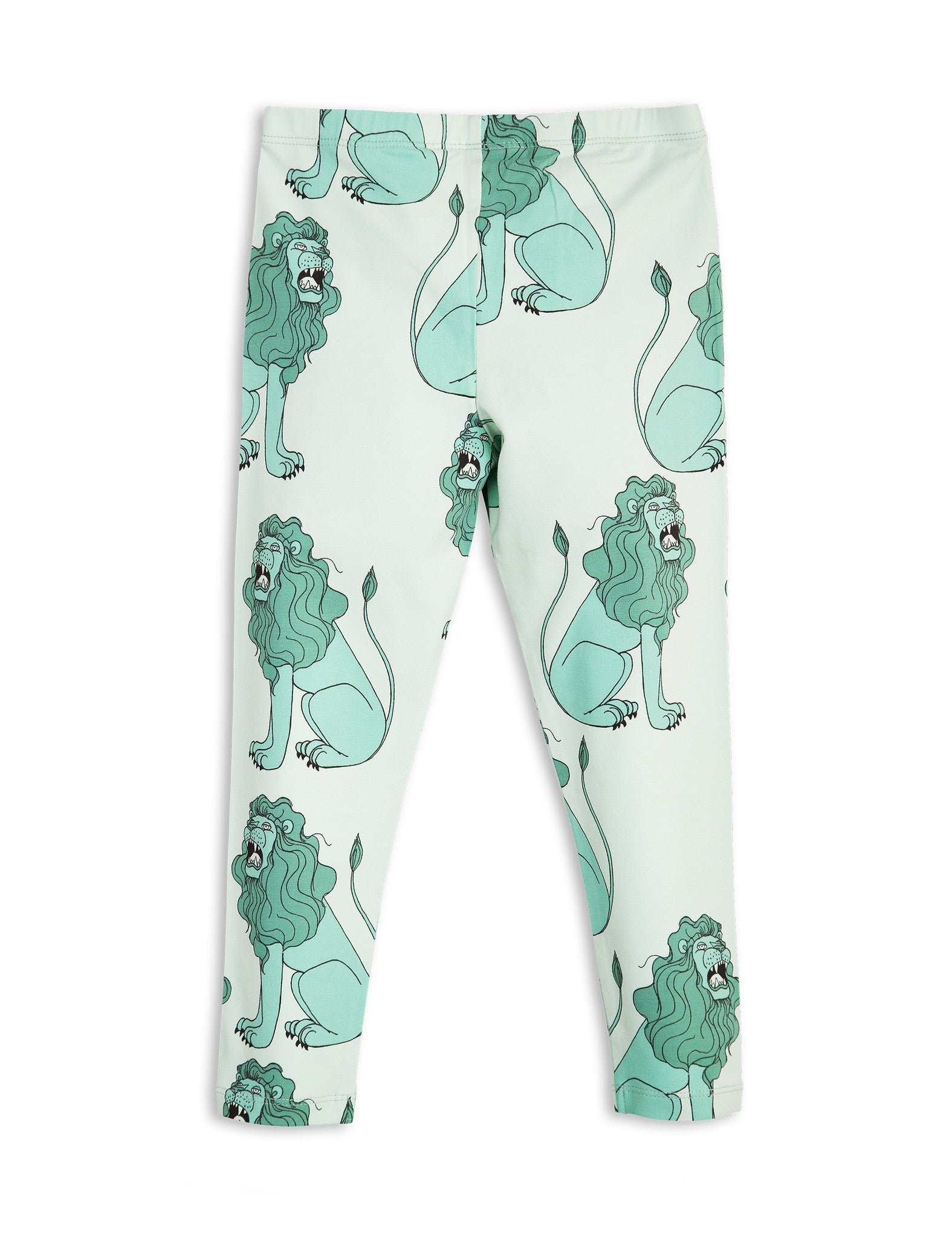 Mini Rodin | Light Green Lion Leggings | The Mini Life