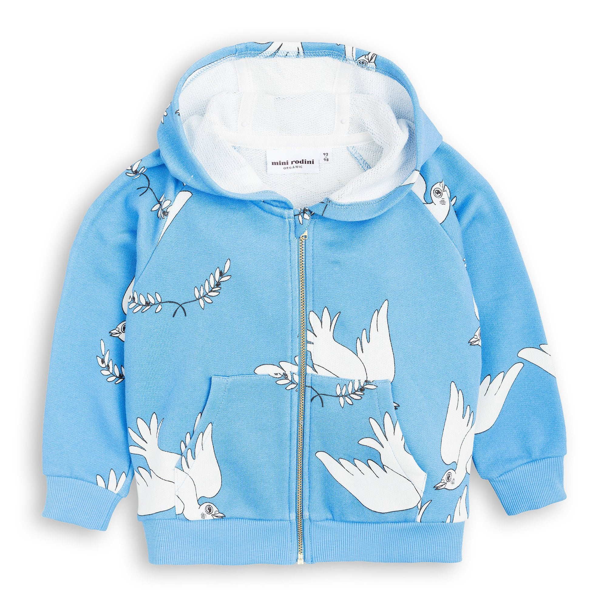 Mini Rodini - Blue Peace Zip Hoodie