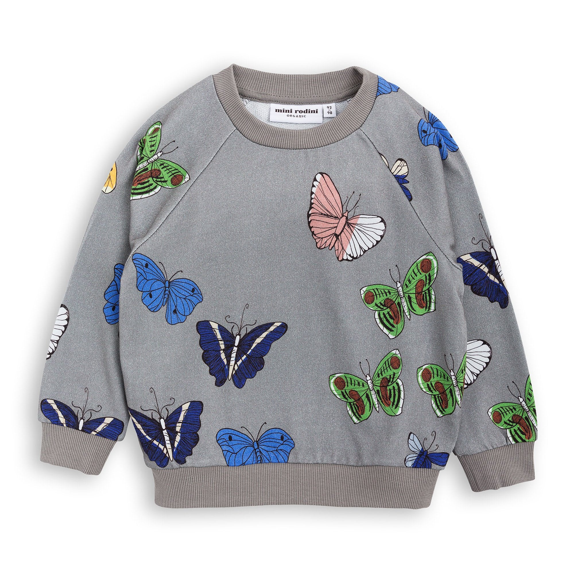 Mini Rodini - Grey Butterflies Sweatshirt