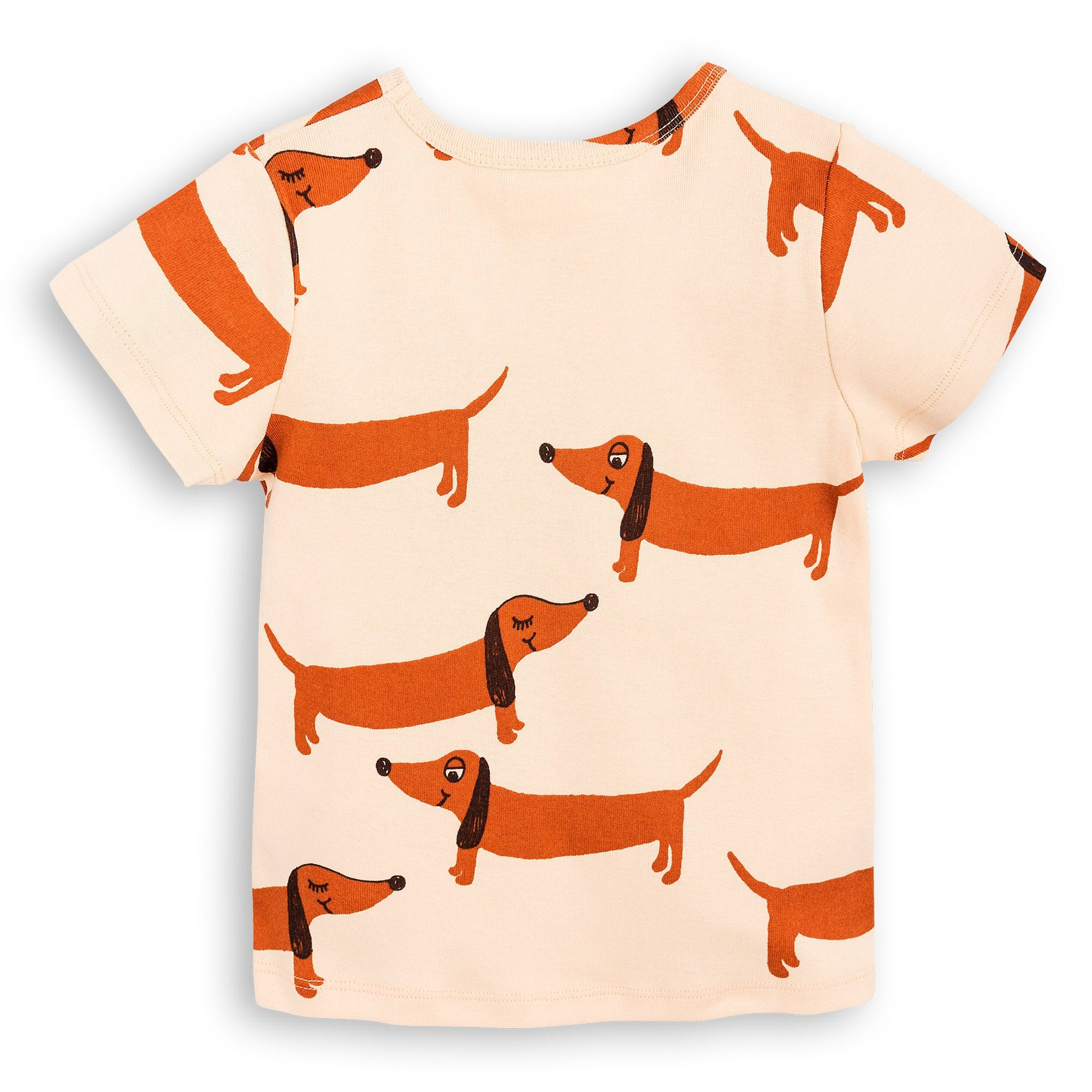 Mini Rodini - Beige Dog Short Sleeve Tee