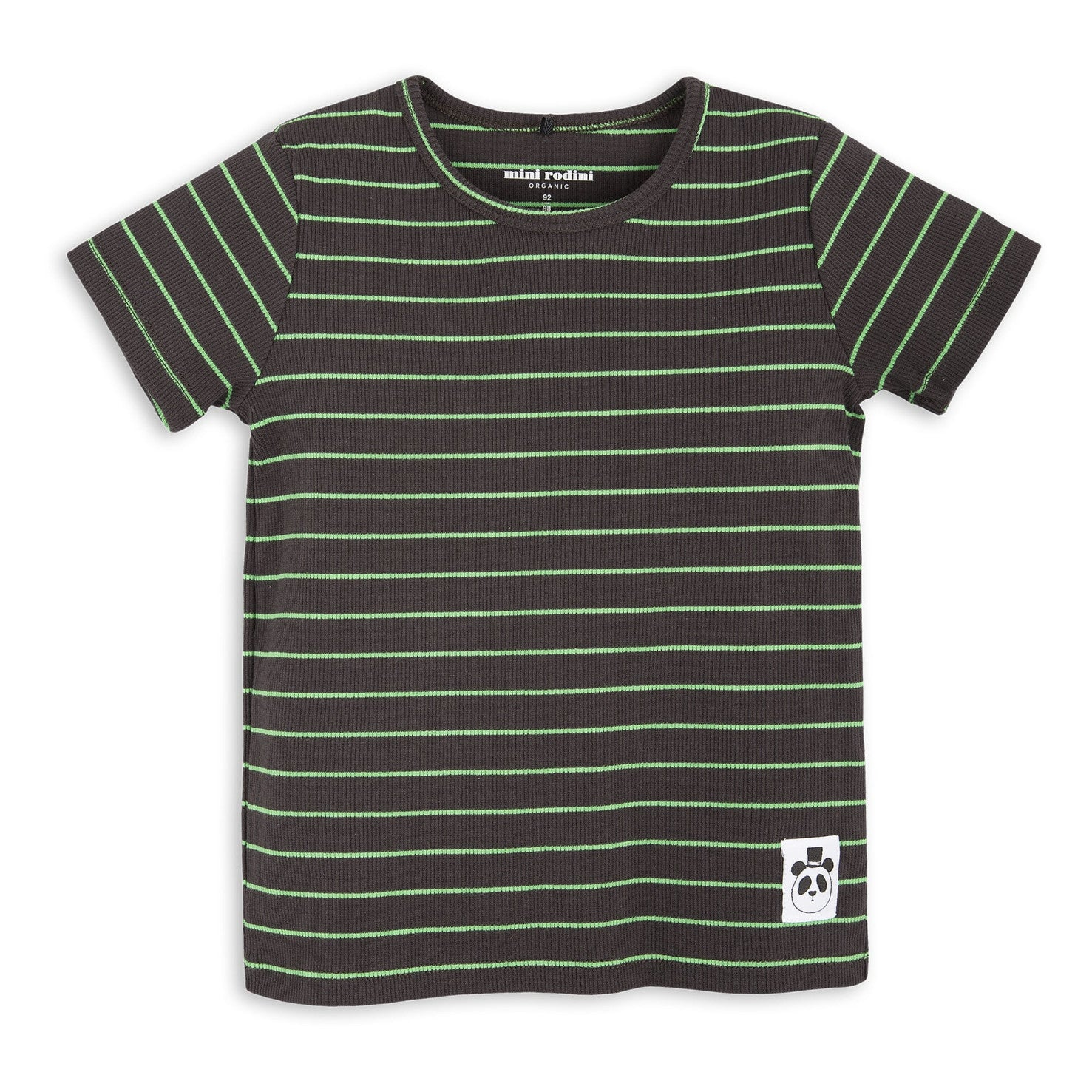 Black Stripe Rib Tee Mini Rodini - The Mini Life